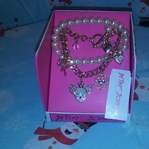 New Betsy Johnson Pearl Bracelet